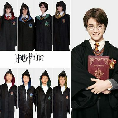 FR Harry Potter Cape Gryffondor Cosplay robe robe de Costume Serpentard COS Hot