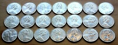 21 X Australian 50 Cent Silver  Coins Round 1966 In Tube