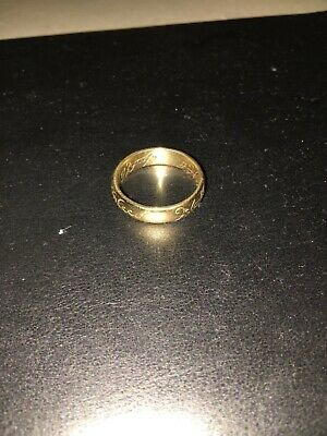 Movie replica Lord Of The Rings 9ct Gold Ring