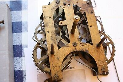 American Wall Clock Movement With Allthe Trimmings, Pendulum Hands, Gong