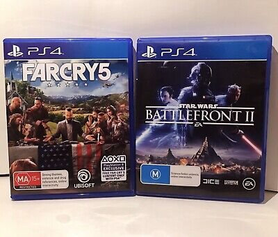 Far Cry 5 PS4 Game + Star Wars Battlefront 2 PS4 Game Bundle Like New