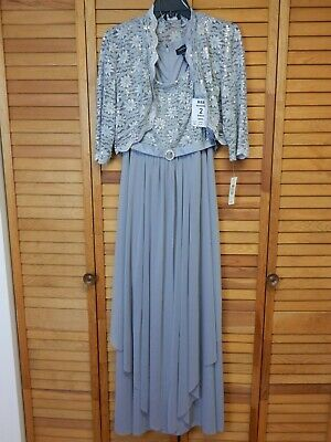 6d4f5610a63a Size 10 RM Richards Silver Sequin 2 pc Mother of the Bride / Occasion Dress