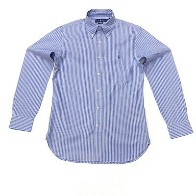 Ralph Lauren Men's Slim Fit Striped Shirt In Blue/White Size 15 32/33