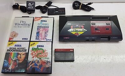 Sega Master System Console, 5 Games [Boxed], controller,leads.Worldwide Shipping