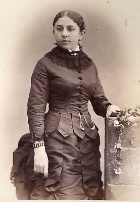 1880's ELEGANT Pretty Young SCHOOL Girl CABINET CARD PHOTO From Philadelphia Pa