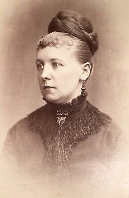 1880's High Elegance Young Lady Fancy CABINET CARD PHOTO from Philadelphia Pa