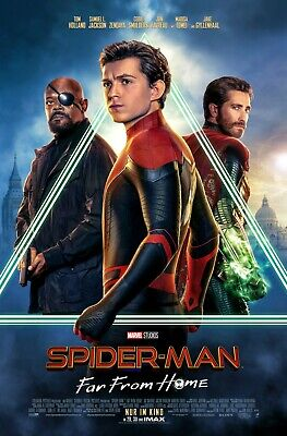 Spiderman Far From Home movie poster (b) - Spiderman poster - 11 x 17 inches