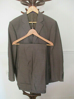 """mens TAYLOR & WRIGHT LIGHT BROWN PINSTRIPE SUIT SIZE 42"""" CHEST (REGULAR) 36W 29L"""