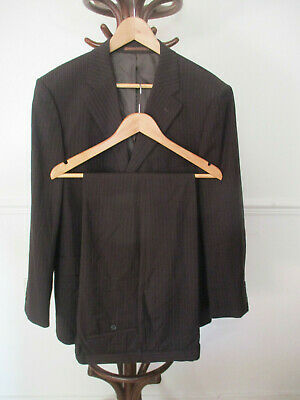 """mens TAYLOR & WRIGHT DARK BROWN PINSTRIPE SUIT SIZE 42"""" CHEST (REGULAR) 36W 29L"""