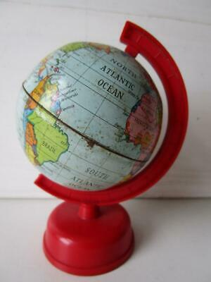 Vintage Small Toy Tinplate and Plastic World Globe - Made in GT Britain - 1930's