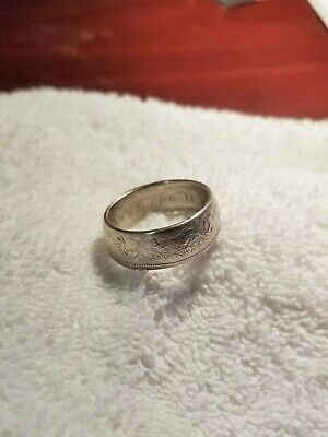 1959 Canadian Silver 50 Cent Piece Ring