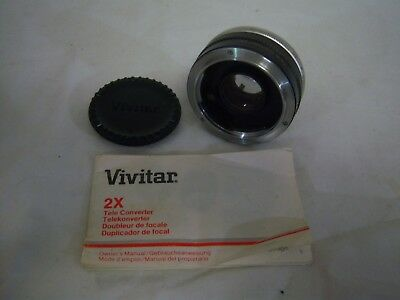 VIVITAR Automatic Tele Converter 2x Lens with Instructions for KONICA AR mount