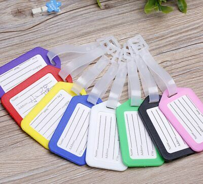 2 Travel Luggage Bag Tag Plastic Suitcase Baggage Office Name Address ID Label