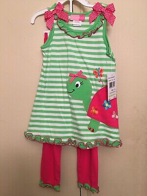 Good Lad Nwt Girls 2 Piece Turtle Outfit Size 4