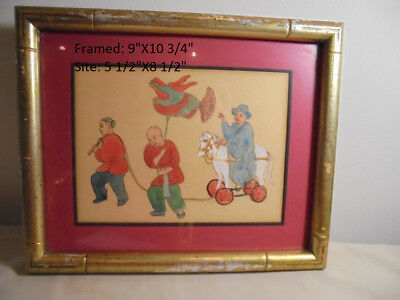 Japanese Woodblock Print-Boys Playing-Unidentified