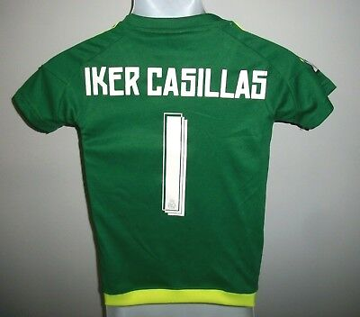 0d202ed84 Boys Adidas Iker Casillas  1 Real Madrid football soccer jersey Spain sz. S  (