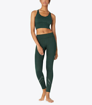 fd2656c5879c4b TORY SPORT CONIFER (hunter green) SIDE-POCKET CHEVRON LEGGINGS Size ...