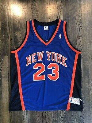 d448731221b Vintage MARCUS CAMBY #23 New York NY Knicks Authentic Starter Jersey Size  52 2XL