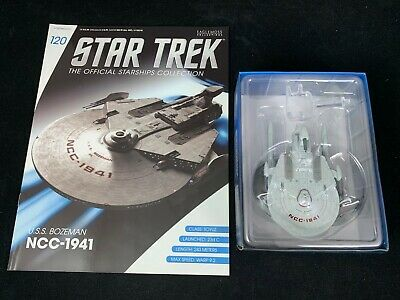 Eaglemoss Star Trek Collection- Starship & Magazine #120- Uss Bozeman Ncc-1941