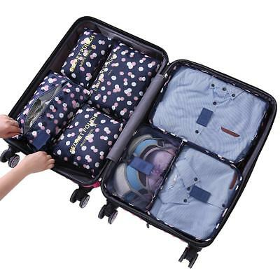 7 Pcs Foldable Travel Clothes Storage Bags Luggage Organizer Pouch Packing Cube