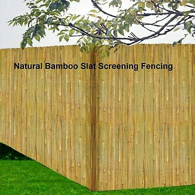 4M Bamboo Natural Slat Garden Screening Fencing Privacy Fence Panel Screen Roll