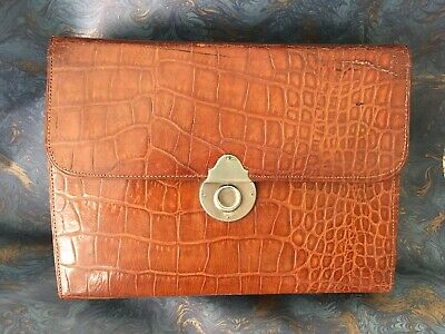 ANTIQUE Leather VANITY / SEWING CASE / Box - Mother of Pearl Tools, Scent Bottle