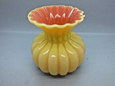 Very Attractive Late 19th C Art Glass Fluted Vase circa 1890 in the A/N Style