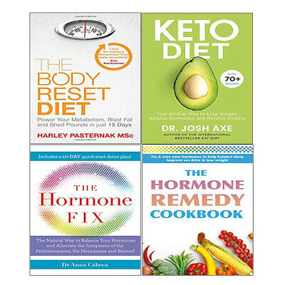 Body Reset Diet,Keto Diet,Hormone Remedy Cookbook, 4 Books Collection Set NEW
