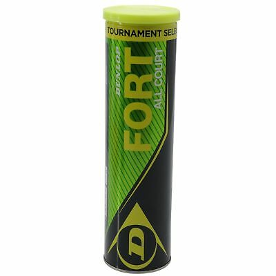 1 Tube Of Dunlop Fort Tennis Balls 4 Balls Dpd 1 Day Uk Delivery.