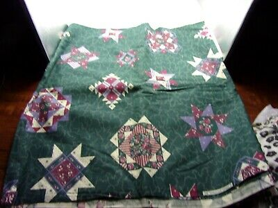 "4 Yards 44"" Wide Green Quilt Design Cotton Fabric"