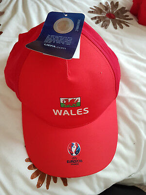 Brand New Tagged  Wales Euro 2016 Baseball Cap