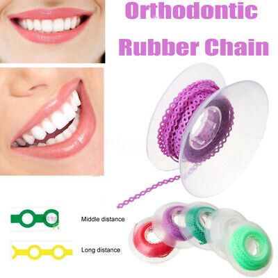 Dental Orthodontic Elastic Ultra Power Chain Rubber Bands  Long/Middle Distance