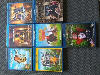 Lot De Dvd Blu Ray 3D