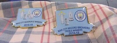 Manchester City  Limited Edition Sky Blue 2019 Quadruple Winners Badge