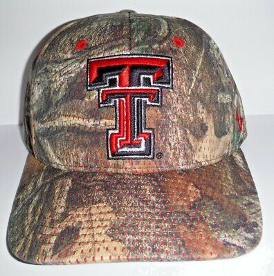 best authentic 0b256 06f0a Texas Tech Red Raiders Authentic Camouflage Adjustable Strap NWT Hat NCAA  Cap
