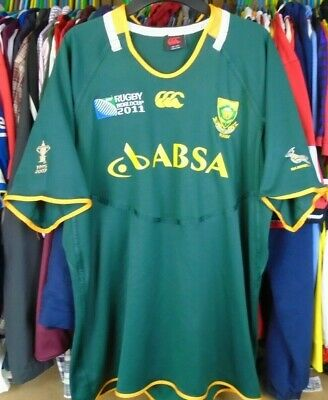 1c7fb8a62c9 South Africa Springboks 2011 World Cup Canterbury Rugby Shirt Jersey Top 3Xl