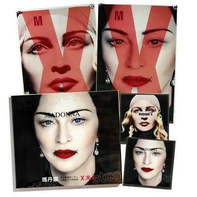 Madonna Madame X Taiwan CD BOX Unfolded Double sided Poster 2 Sticker 2019 NEW