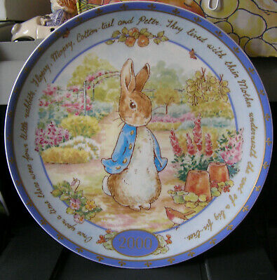 WEDGWOOD BEATRIX POTTER SWEET PETER RABBIT MILLENNIUM PLATE boxed & unused