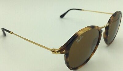 d86a2039d RAY-BAN ROUND FLECK Rb2447 1160 49Mm Tortoise-Gold / Brown Classic B ...