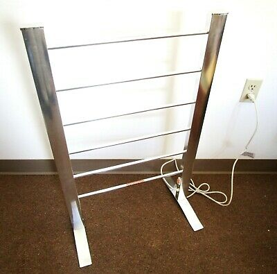 Warmrails Electric Floor Standing Towel Warmer Drying Rack Bathroom Spa Chrome
