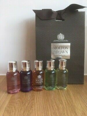 Molton Brown Ladies Body Wash / Shower Gel Gift Set 5 x 30ml Bottles NEW