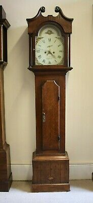 8 DAY OAK LONGCASE CLOCK by T ASHLEY, WHITTLESEA, CAMBRIDGESHIRE. WHITTLESEY