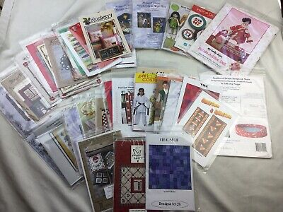 HUGE 37 Lot of Craft Patterns Sewing Quilting Dolls Embroidery Country & More