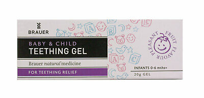 New 20g Brauer Baby & Child Teething Gel Temporary Pain Reliever Durable