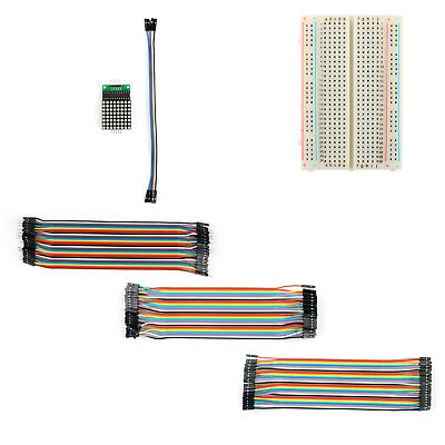 MAX7219 Dot LED Matrix Module+400 Point Breadboard+120Pcs Jumper Wires M/F US