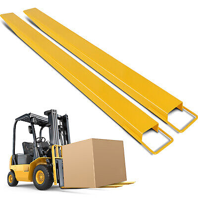 96*5 Pallet Fork Extensions for Forklifts Durable No Tools Q235 Steel