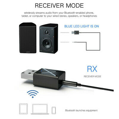 Mini Bluetooth 5.0 Audio Receiver 3.5mm AUX Stereo Bluetooth Transmitter RCA