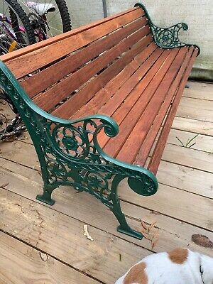 Cast Iron 1.8m Park Bench Garden Seat  Antique Vintage EXTRA HEAVY-I Can Deliver