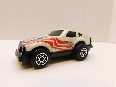 Vintage Tonka Race Car, Friction Drive, Top Button, 1980's, Red white Blue