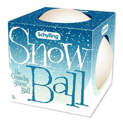 Schylling Snow Ball Crunch Stress Ball NEW